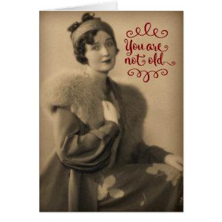 Vintage20-talkvinna, som är Retro, inte gammal Hälsningskort