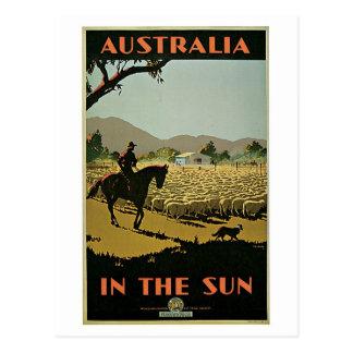 Vintage30-tal Australien reser annonsen Vykort