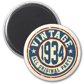 Vintage 1934 alla originaldelar magnet rund 5.7 cm