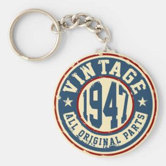 Vintage 1947 alla originaldelar rund nyckelring