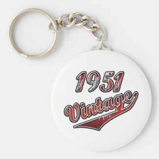 Vintage 1951 rund nyckelring