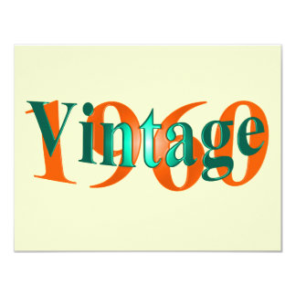Vintage 1960 10,8 x 14 cm inbjudningskort