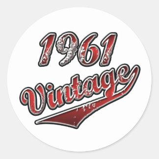 Vintage 1961 runt klistermärke