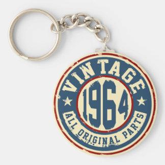 Vintage 1964 alla originaldelar rund nyckelring