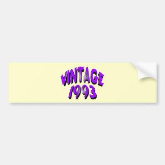 Vintage 1993 bildekal