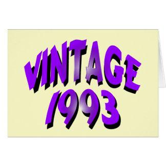 Vintage 1993 hälsningskort