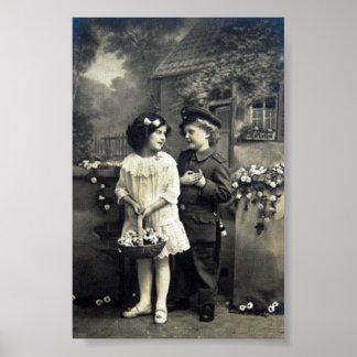 Vintage affisch av tysklanda barn för 20th poster