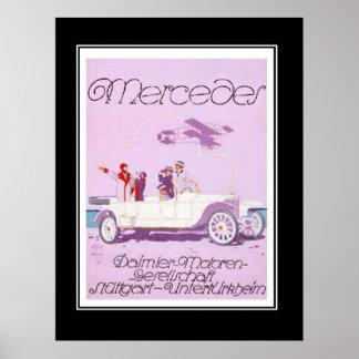 vintage affisch för 20-talPassanger bil