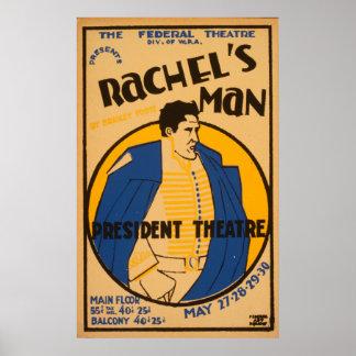 Vintage affisch för Andrew Jackson drama 1937 WPA