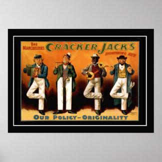 Vintage affisch för fyra jackar