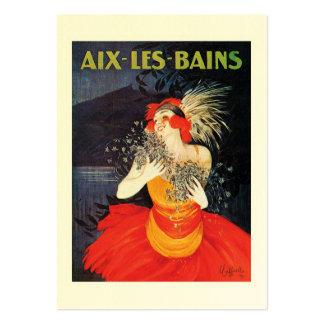 Vintage affischvisitkort set av breda visitkort