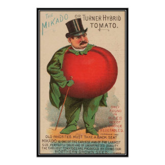Vintage: åkerbruk advertizing - poster
