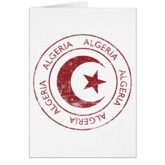 Vintage Algeriet Hälsningskort