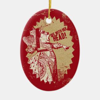 Vintage Alice av med henne som är head Julgransprydnad Keramik