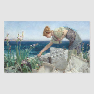 Vintage Alma-Tadema bland fördärvar klistermärken