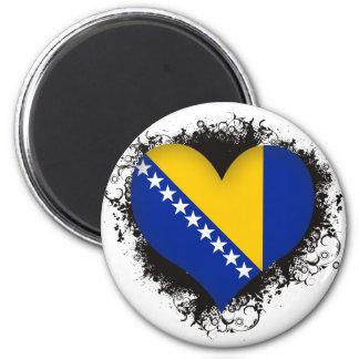 Vintage älskar jag Bosnien och Hercegovina Magnet