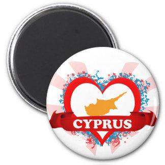 Vintage älskar jag Cypern Magnet