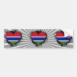Vintage älskar jag Gambia Bildekaler