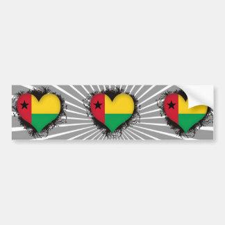 Vintage älskar jag Guinea Bildekaler