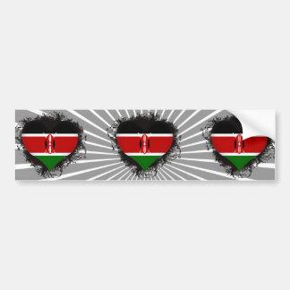Vintage älskar jag Kenya Bildekaler