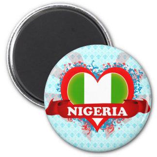 Vintage älskar jag Nigeria Magnet