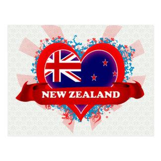 Vintage älskar jag nyazeeländskt vykort