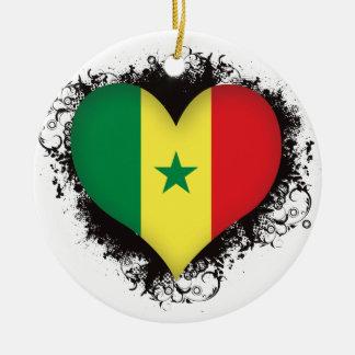 Vintage älskar jag Senegal Julgransprydnad Keramik