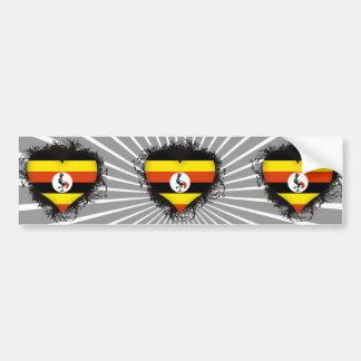 Vintage älskar jag Uganda Bildekal