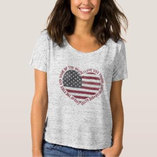 Vintage älskar jag USA hjärta T Shirt