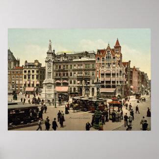 Vintage - Amsterdam, Nederländerna Poster