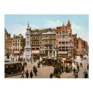 Vintage Amsterdam, spårvagnar i Domna Plat Vykort