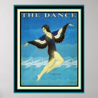 Vintage annons danstidskriftaffischen 16 x 20 poster