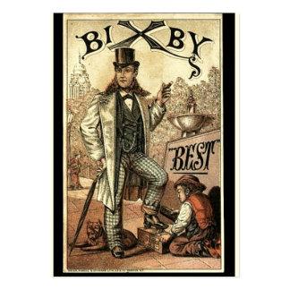 Vintage annons för Bixby skor sken Visitkort Mallar