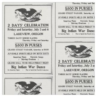 Vintage annonsFourth av den Juli 4th independence Tyg