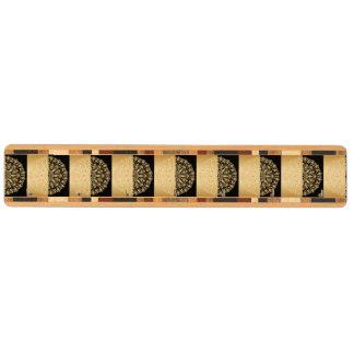Vintage antikvitet, guld, svart, mönster, chic, nyckelhängare