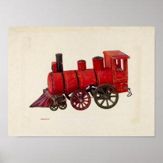 Vintage avfyrar konst för lastbilungeaffischen poster