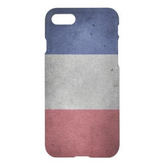 Vintage bedrövad flagga av frankriken iPhone 7 skal
