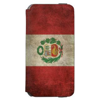 Vintage bedrövad flagga av Peru