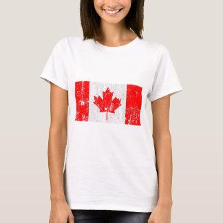Vintage bedrövad Kanada flaggaskjorta T-shirt