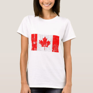 Vintage bedrövad Kanada flaggaskjorta Tee Shirts
