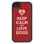 Vintage bedrövade behållalugn- och kärlekhundar iPhone 5 Case-Mate skydd