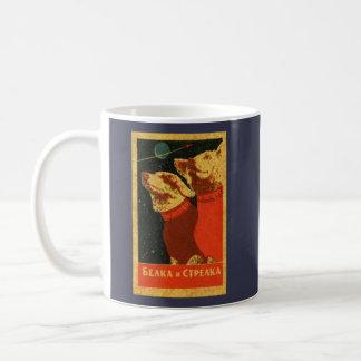 Vintage Belka & Strelka sovjetiska utrymmehundar Kaffemugg