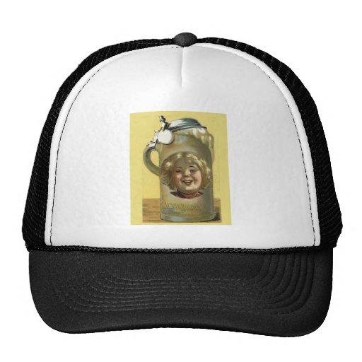 Vintage bild ett bra huvud på den mesh kepsar