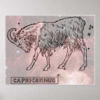 Vintage bild - Zodiac - Capricorn Poster