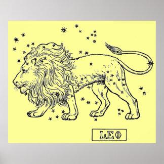 Vintage bild - Zodiac - Leo Poster