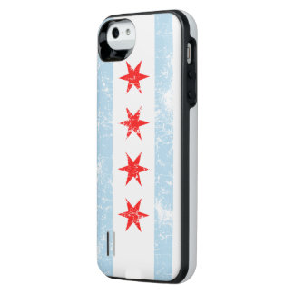 Vintage bleknar den Chicago flagga iPhone SE/5/5s Batteri Skal