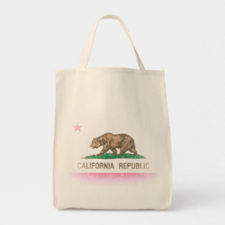 Vintage bleknar den Kalifornien flagga Kasse