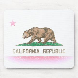 Vintage bleknar den Kalifornien flagga Musmattor
