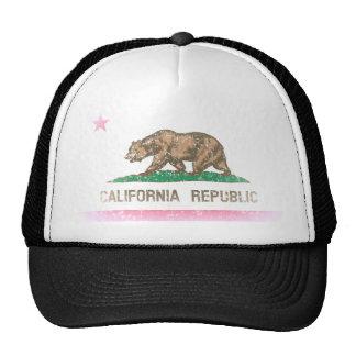 Vintage bleknar Kalifornien republikflagga Keps