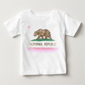 Vintage bleknar Kalifornien republikflagga Tshirts